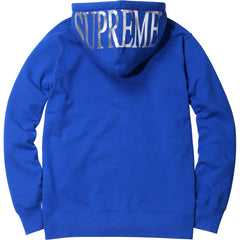 Supreme Hooded Foil Logo Zip Up Hoodie Royal Blue SS15 - RSRV - 2