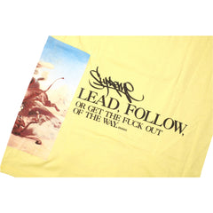 Supreme Lead or Follow T Shirt Yellow SS12 - RSRV - 4