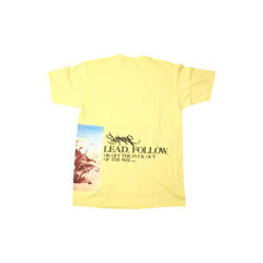 Supreme Lead or Follow T Shirt Yellow SS12 - RSRV - 2