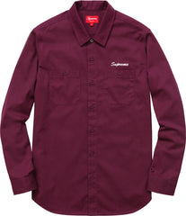 Supreme Pledge Allegiance Work Shirt Purple FW15 - RSRV - 2