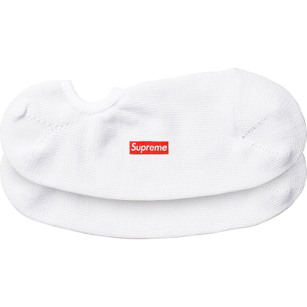 Supreme No Show Sock 2 Pack White SS15 - RSRV - 1