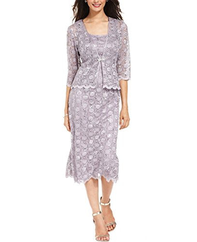 R&M Richards Womens 2 Piece Lace Swing Jacket Dress - Mother Of the Bride Wedding Dresses