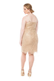 RM Richards Women's Metallic Embroidered Lace Jacket-Mother of the Bride Dress