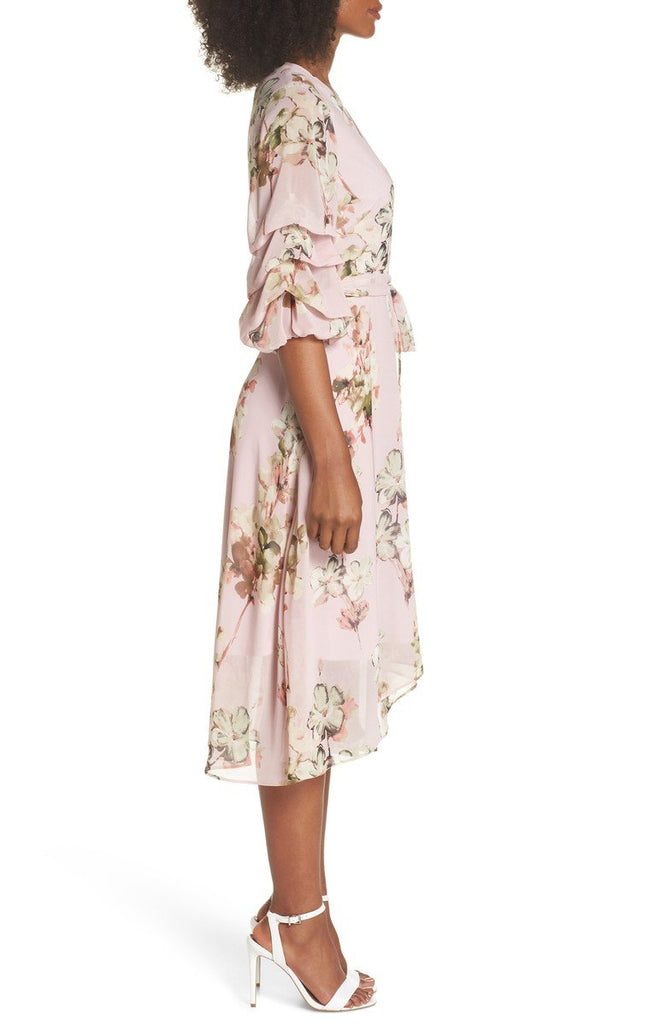 7cb6ed3f93 Gabby Skye Women Floral Tiered Sleeve Chiffon Dress- Summer Dress ...