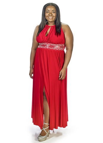 RM Richards Women Plus Size Evening Gown - Red, Royal - SleekTrends - 1