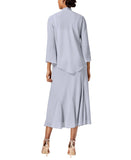 R&M Richards Women''s Beaded Chiffon Jacket Dress