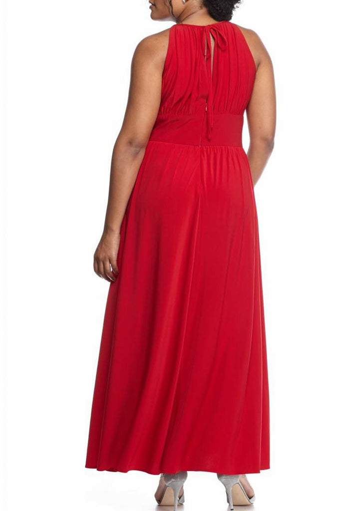 RM Richards Women Plus Size Evening Gown - Red, Royal - SleekTrends - 4