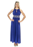 RM Richards Women's Sleeveless Beaded Designer Evening Gown