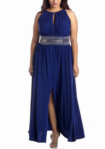 RM Richards Women Plus Size Evening Gown - Red, Royal - SleekTrends - 2