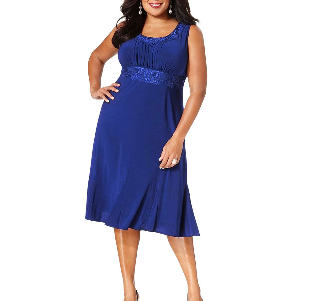 RM Richards Plus Size Lace Sequin Dress - SleekTrends - 2