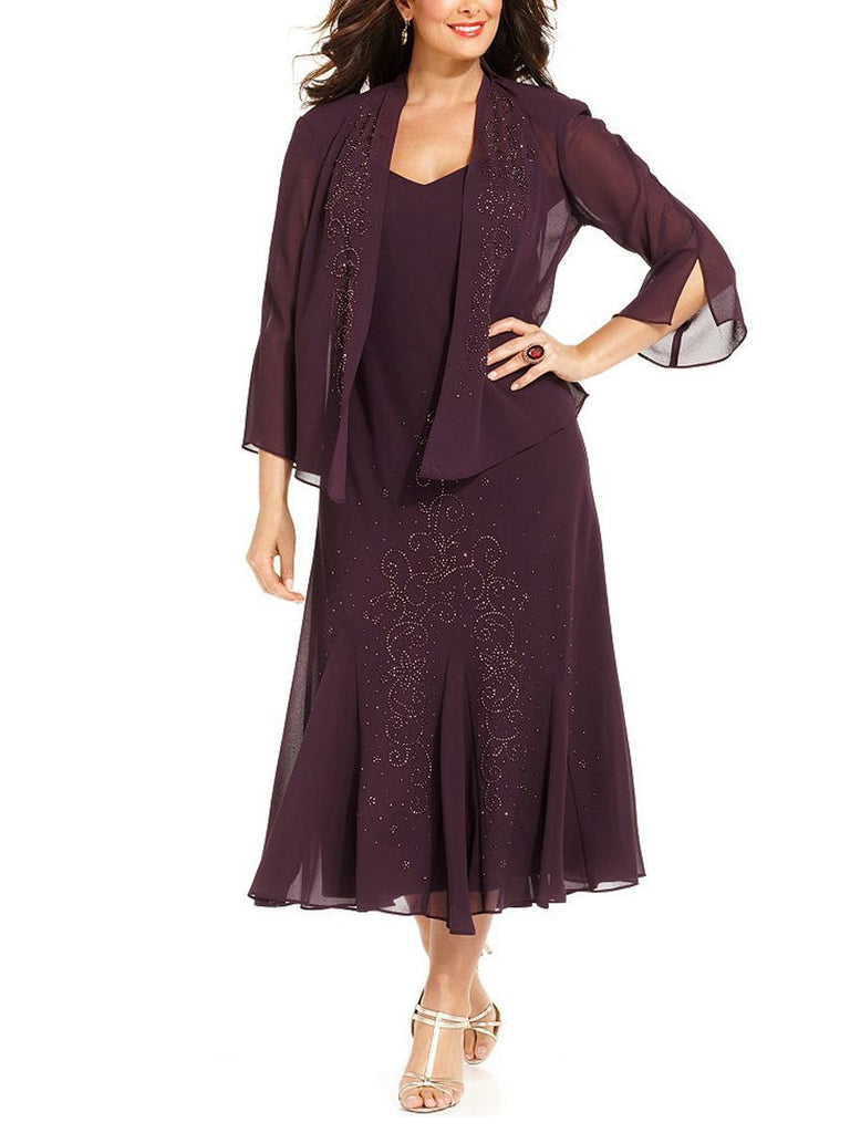 R&M Richards Women's Plus Size Beaded Jacket Dress - Mother of the Bride Dresses - SleekTrends - 4