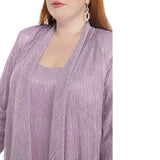RM Richards Women's Plus Size 2 Piece Shimmer Jacket Dress - Mother Of The Bride Dress