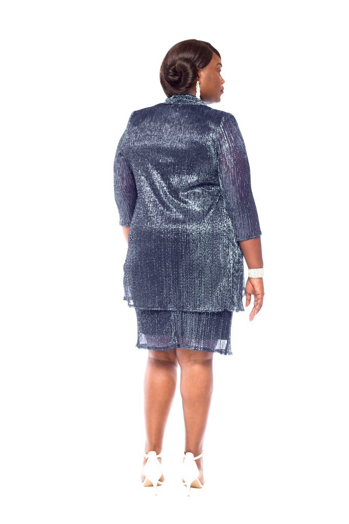 RM Richards Women's Plus Size 2 Piece Shimmer Jacket - Mother of the Bride Dress