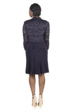 RM Richards Women Sequin Lace Ruffle Front Jacket Dress - SleekTrends - 11