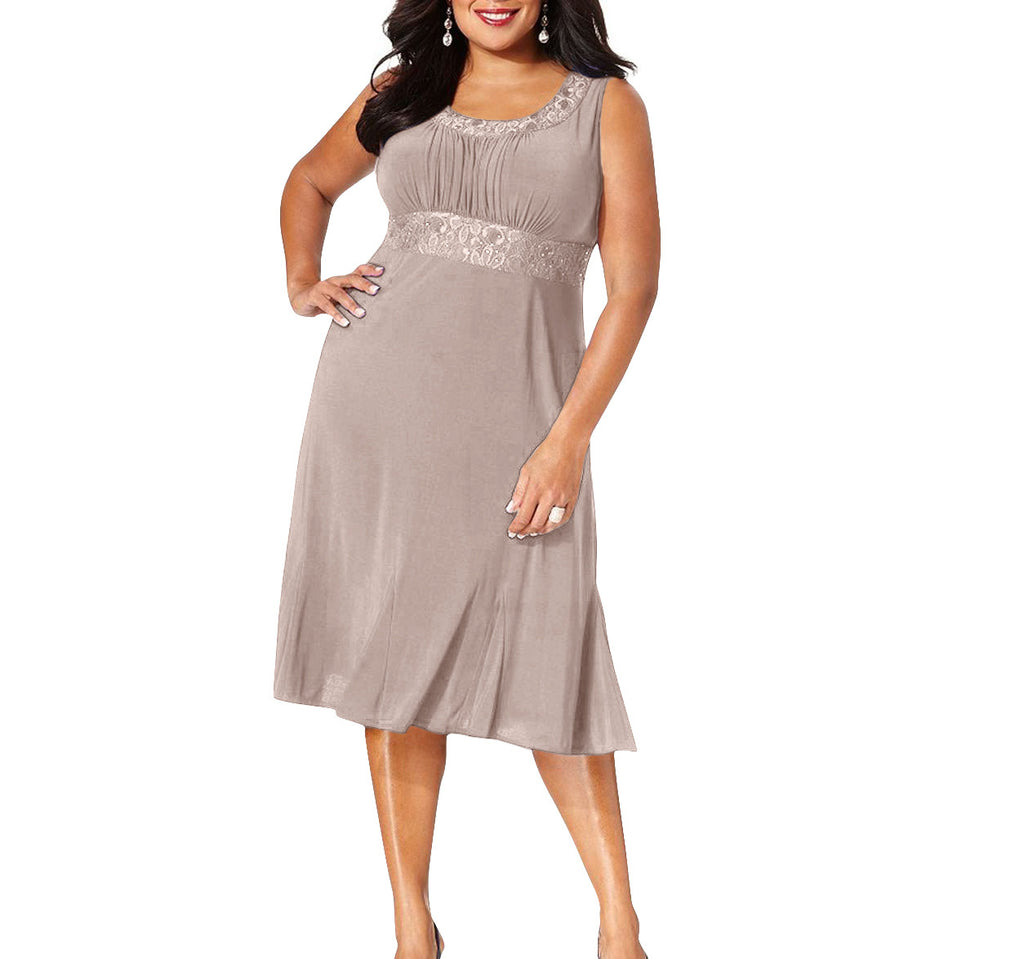 RM Richards Plus Size Lace Sequin Dress - SleekTrends - 5