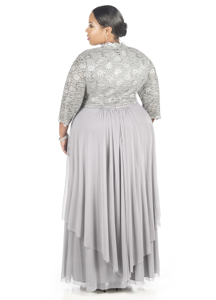 R&M Richards Women's Plus Size Formal Jacket Dress - Mother of the Bride Dress - SleekTrends - 3