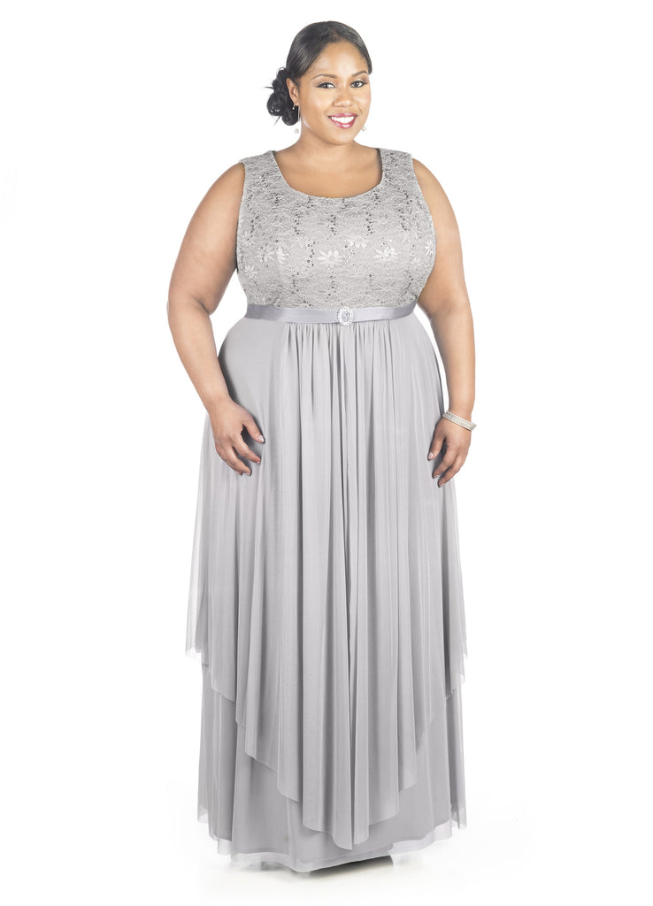 Plus Size Mother of theBride formal jacket Dress