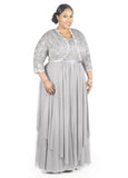 R&M Richards Women's Plus Size Formal Jacket Dress - Mother of the Bride Dress - SleekTrends - 2