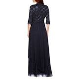 R&M Richards Women's Sequin Lace Long Jacket Dress - Mother of the Bride Dress