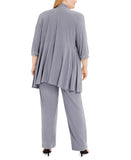 R&M Richards Plus size Women's Lace ITY 2 Piece PantSuit - Mother of the bride outfit