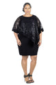 RM Richards Women's Plus Size Sequin Lace Poncho Party Dress - Cocktail Dresses