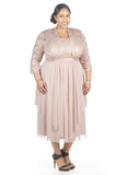 RM Richards Women's Plus Size Sequin Lace Jacket Dress - Mother of The Bride Wedding Dresses - SleekTrends - 8