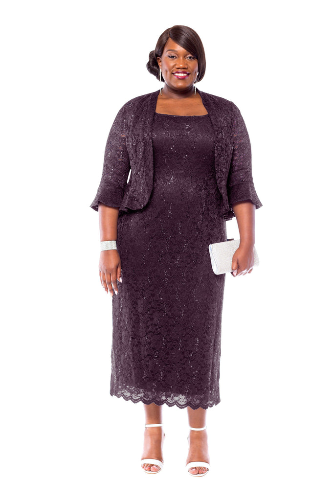 Plus Size Mother Of Thebride Groom Two Piece Dresses Sleektrends