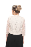 SLEEKTRENDS Womens  Embellished Sequin Lace Bolero Jacket
