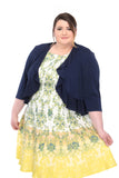 SLEEKTRENDS Womens Plus Size  Ruffled  Bolero Jacket