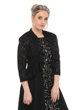 SLEEKTRENDS Womens Sequin Lace Ruffled  Bolero Jacket