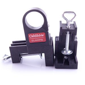 The CaNibble clamps come with adjustable bench mounting.