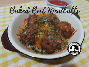 DIY Feed My Paws Recipe: 3 ingredient Baked Meatballs!