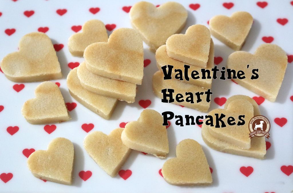 DIY FeedMyPaws Recipe: Valentine's Heart Pancakes for dogs!
