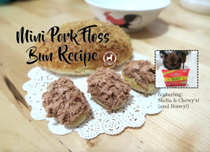 DIY FeedMyPaws Recipe: Mini Pork Floss Buns (featuring Stella & Chewy's)