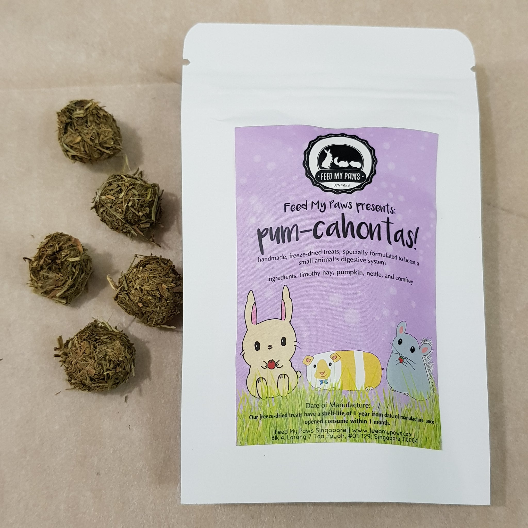 Pum-cahontas - freeze dried small animal treats