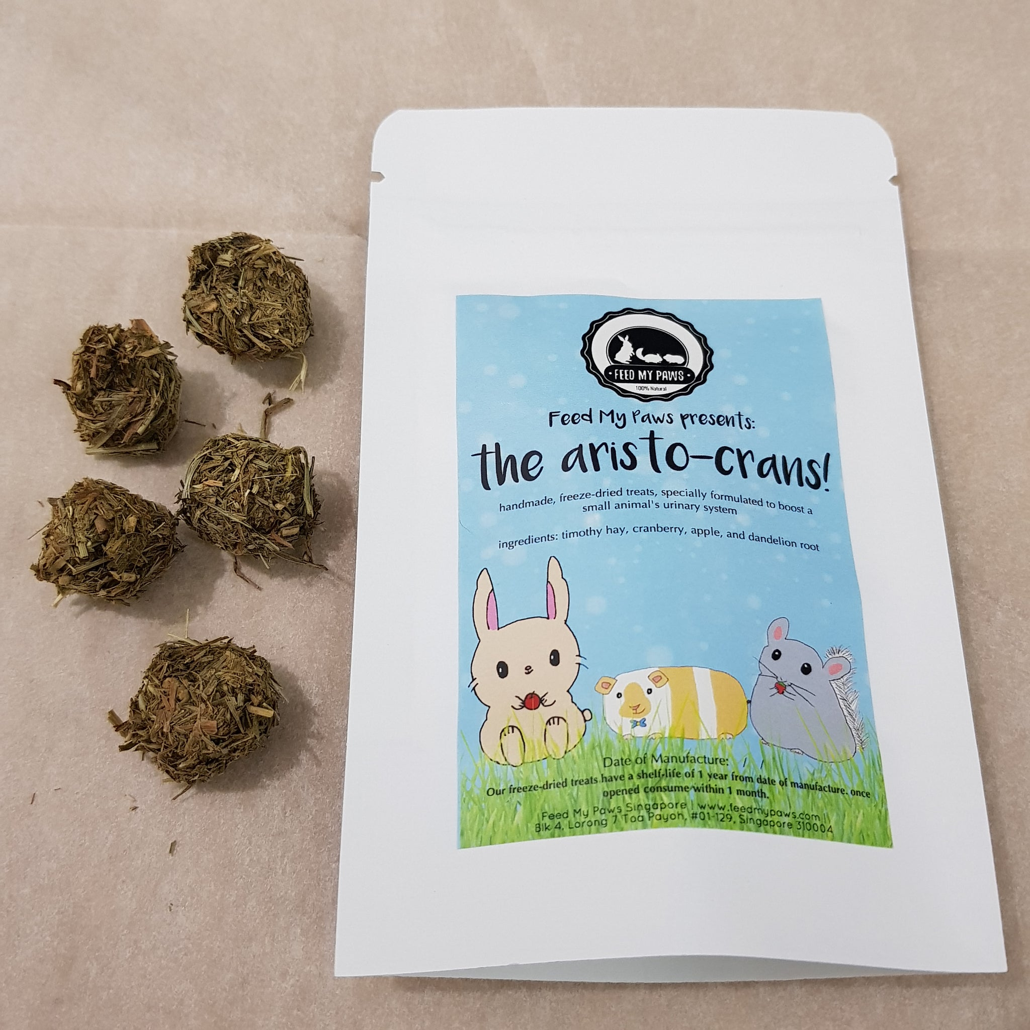 The Aristo-crans - freeze dried small animal treats