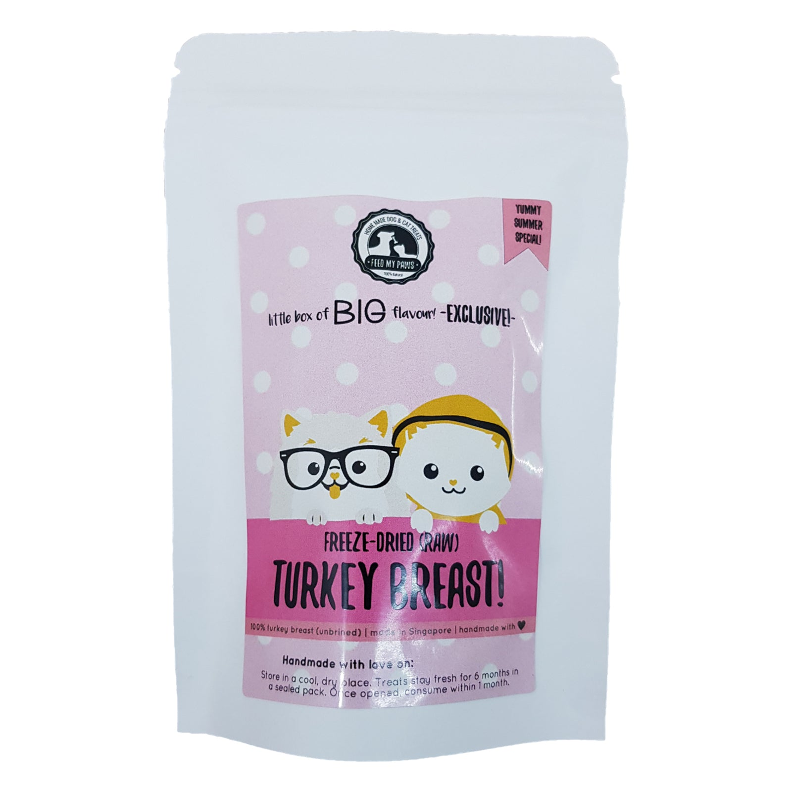 Freeze-dried Raw Turkey Breast (Mini packs!) *Limited edition!*