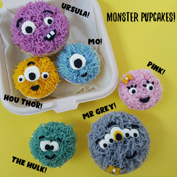 Monster Pupcakes! Set of 3 pieces