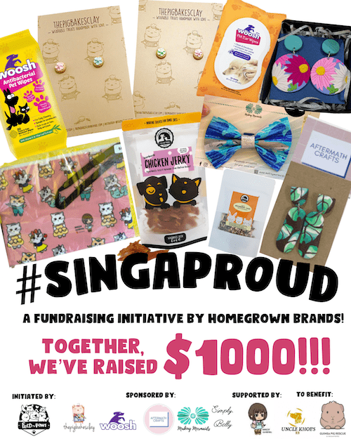 Singaproud and Feed My Paws Fundraising Collaboration