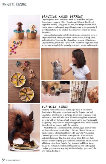 page 3 of Pets Magazine Media Feature with Crystle from Feed My Paws
