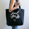 Good Stuff Organic Cotton Tote Bag - Copper/Natural