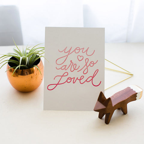 You Are So Loved Wall Print - 5 x 7