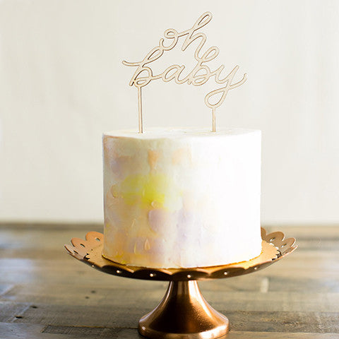Oh Baby Script Cake Topper