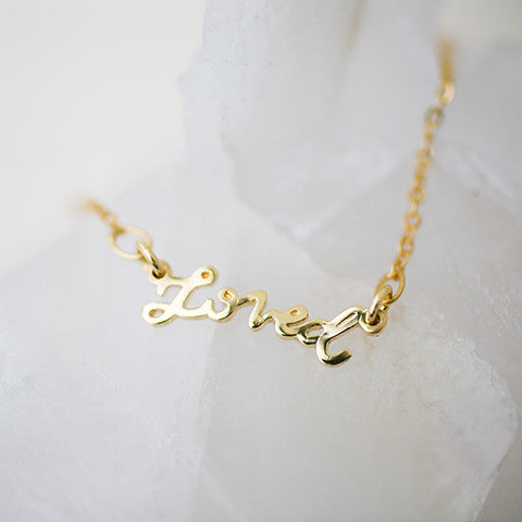 Loved Script Necklace Pre-Order