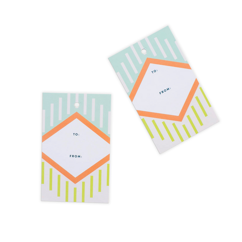 Abstract Geometric Gift Tags - Mint (Set of 10)