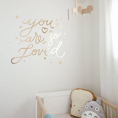 You Are So Loved Wall Decal - Gold or Silver