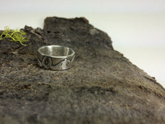 Mountain Landscape Wedding Band