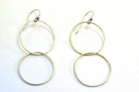 Double Golden Hoops