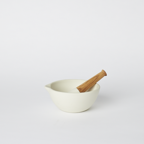 Mortar and Pestle in Milk