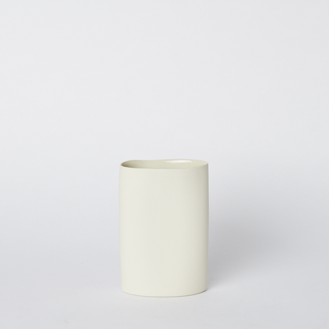 Vase Oval Small in Milk